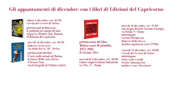 Dicembre con i libri di Edizioni del Capricorno