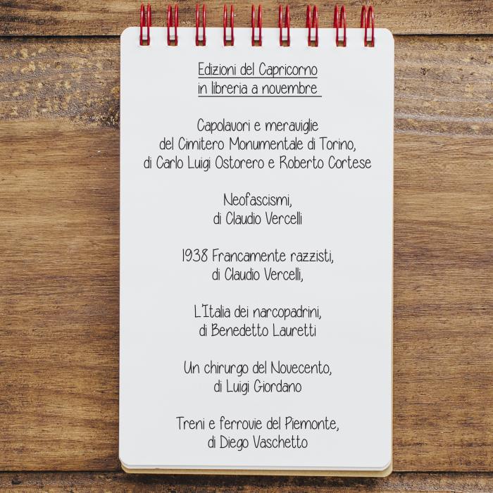 Edizioni del Capricorno - novità in libreria a novembre